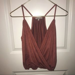 Charlotte Russe Faux Leather Tank Top